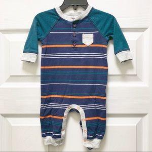 Cat & Jack Baby Boy Striped Jumpsuit